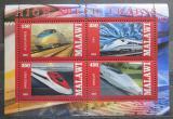 Poštovní známky Malawi 2013 Vysokorychlostní vlaky Mi# N/N