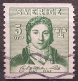 Poštovní známka Švédsko 1942 Carl Wilhelm von Scheele, chemik Mi# 295 A