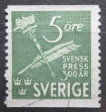 Poštovní známka Švédsko 1945 Švédský denní tisk, 300. výročí Mi# 312 A