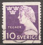 Poštovní známka Švédsko 1946 Esaias Tegnér, básník Mi# 323 A