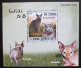 Poštovní známka Svatý Tomáš 2008 Kočky DELUXE Mi# 3694 Block