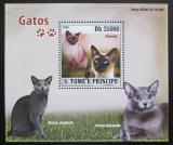 Poštovní známka Svatý Tomáš 2008 Kočky DELUXE Mi# 3696 Block