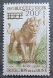 Poštovní známka Niger 1960 Lev přetisk, vzácná Mi# 16 Kat 17€