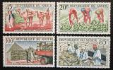 Poštovní známky Niger 1963 Pěstování podzemnice olejné Mi# 53-56