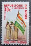 Poštovní známka Niger 1966 Vojáci s vlajkou Mi# 133