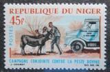 Poštovní známka Niger 1966 Boj s morem skotu Mi# 136