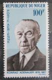 Poštovní známka Niger 1967 Konrad Adenauer Mi# 168