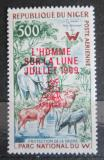 Poštovní známka Niger 1969 Fauna, přetisk Apollo Mi# 224 Kat 10€