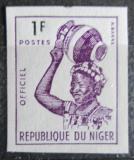 Poštovní známka Niger 1962 Domorodkyně, služební neperf. Mi# 1 B