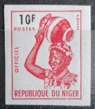 Poštovní známka Niger 1962 Domorodkyně, služební neperf. Mi# 4 B