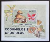 Poštovní známka Svatý Tomáš 2008 Houby DELUXE Mi# 3409 Block