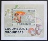 Poštovní známka Svatý Tomáš 2008 Houby DELUXE Mi# 3410 Block