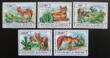 Poštovní známky Burundi 2013 Kaktusy a divocí psi Mi# 3228-32