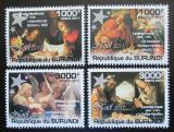 Poštovní známky Burundi 2011 Vánoce, umění Mi# 2198-2201 Kat 9.50€