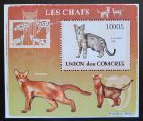 Poštovní známka Komory 2009 Kočky DELUXE Mi# 2210 Block