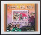 Poštovní známka Guinea 2008 Kočky DELUXE Mi# 6088 Block