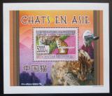 Poštovní známka Guinea 2008 Kočky DELUXE Mi# 6093 Block