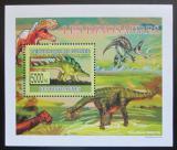 Poštovní známka Guinea 2009 Dinosauři DELUXE Mi# 6393 Block