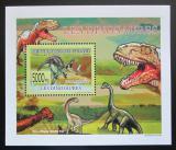 Poštovní známka Guinea 2009 Dinosauři DELUXE Mi# 6395 Block