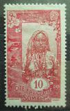 Poštovní známka Francouzské Somálsko 1915 Somálská dívka Mi# 87