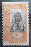 Poštovní známka Francouzské Somálsko 1915 Somálská dívka Mi# 91