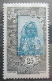 Poštovní známka Francouzské Somálsko 1922 Somálská dívka Mi# 95