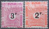 Poštovní známky Francouzské Somálsko 1927 Doplatní přetisk Mi# 9-10 Kat 22€