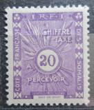 Poštovní známka Francouzské Somálsko 1938 Doplatní Mi# 14
