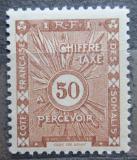 Poštovní známka Francouzské Somálsko 1938 Doplatní Mi# 16
