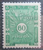 Poštovní známka Francouzské Somálsko 1938 Doplatní Mi# 17