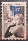 Poštovní známka Francie 1956 Výroba rukavic Mi# 1044