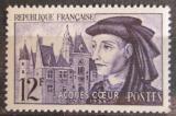 Poštovní známka Francie 1955 Jacques Coeur a jeho zámek Mi# 1060