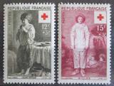 Poštovní známky Francie 1956 Červený kříž, umění Mi# 1117-18 Kat 6€