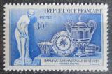 Poštovní známka Francie 1957 Výroba porcelánu Mi# 1123