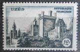 Poštovní známka Francie 1957 Zámek v Uzes Mi# 1128