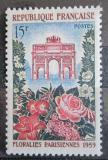 Poštovní známka Francie 1959 Vítězný oblouk, výstava květin Mi# 1228