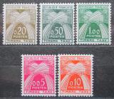 Poštovní známky Francie 1960 Doplatní TOP SET Mi# 93-97 Kat 70€