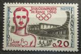 Poštovní známka Francie 1960 LOH Řím, Jean Bouin Mi# 1317