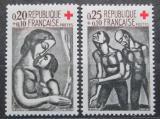 Poštovní známky Francie 1961 Červený kříž, grafika Mi# 1376-77 Kat 5€