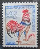 Poštovní známka Francie 1962 Galský kohout Mi# 1384 x