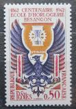 Poštovní známka Francie 1962 Škola pro výrobce hodin Besancon Mi# 1396