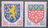 Poštovní známky Francie 1962 Městské znaky Mi# 1406-07