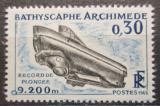Poštovní známka Francie 1963 Batyskaf Archimedes Mi# 1421