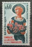 Poštovní známka Francie 1965 Dívka s květinami Mi# 1508