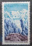 Poštovní známka Francie 1965 Otevření tunelu k Mount Blanc Mi# 1520