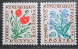Poštovní známky Francie 1964 Doplatní, květiny Mi# 98-99