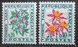 Poštovní známky Francie 1971 Doplatní, květiny Mi# 104-05