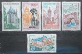 Poštovní známky Francie 1971 Turistické zajímavosti Mi# 1756-60