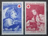 Poštovní známky Francie 1971 Umění, Červený kříž Mi# 1777-78