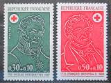 Poštovní známky Francie 1972 Červený kříž, lékaři Mi# 1815-16